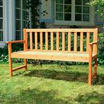 2 in 1 Garden Bench Table Wooden Room Suite Wood Banquette Settle Garten Tray Pic:1