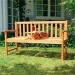 Gartenbank Sitzbank Holzbank mit klappbarem Tisch