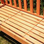 Gartenbank Sitzbank Holzbank mit klappbarem Tisch Pic:4