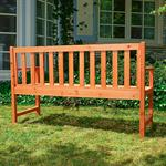2 in 1 Garden Bench Table Wooden Room Suite Wood Banquette Settle Garten Tray Pic:5