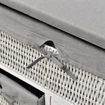 Bügelbrett 2 in 1 Kommode mit Weidenkörben - Weiß Pic:4