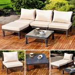 Polyrattan Lounge Couch Gartengarnitur Braun