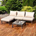 Polyrattan Lounge Couch Gartengarnitur Braun Pic:1