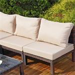 Polyrattan Lounge Couch Gartengarnitur Braun Pic:4