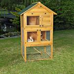 XXL Rabbit Cage Hutch Outdoor Pen Open-Air Enclosure Cage Rodent Stall Animal