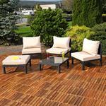 Polyrattan Lounge Couch Gartengarnitur Schwarz Pic:3
