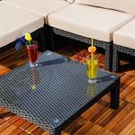 Polyrattan Lounge Couch Gartengarnitur Schwarz Pic:4