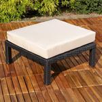 Polyrattan Lounge Couch Gartengarnitur Schwarz Pic:6
