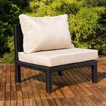 Polyrattan Lounge Couch Gartengarnitur Schwarz Pic:7