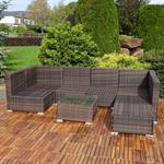 Polyrattan Sofa Sitzgruppe Lounge braun Pic:2