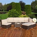 Polyrattan Sofa Sitzgruppe Lounge braun Pic:3