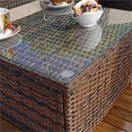 Polyrattan Sofa Sitzgruppe Lounge braun Pic:6