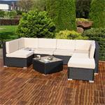Polyrattan Sofa Sitzgruppe Lounge schwarz Pic:1