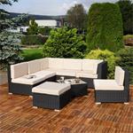 Polyrattan Sofa Sitzgruppe Lounge schwarz Pic:3