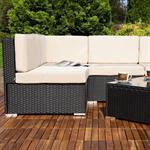 Polyrattan Sofa Sitzgruppe Lounge schwarz Pic:5