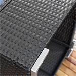 Polyrattan Sofa Sitzgruppe Lounge schwarz Pic:6