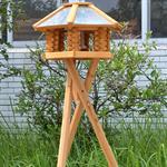 Vogelhaus Ständer für XXL Haus - hell Pic:1