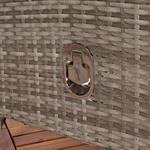 Verstellbarer Polyrattan Sessel inkl. Kissen Grau Pic:3