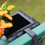 60cm Rattan Flower Box Balcony Trough Polyrattan Plant Pots Plant Inserts Black Pic:3