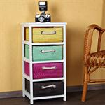 Dresser Sideboard Closet Cabinet Shelf including 4 colourful baskets
