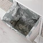 Kommode aus Holz weiß 3 Schubladen mit Verzierung Pic:5