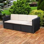 Polyrattan Garnitur Lounge Set Sitzmöbel schwarz Pic:3