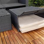 Polyrattan Garnitur Lounge Set Sitzmöbel schwarz Pic:5