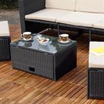 Polyrattan Garnitur Lounge Set Sitzmöbel schwarz Pic:6