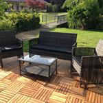 Garden Furniture Polyrattan Garden Lounge Four-Part Set Furniture Set Pic:1