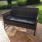 Poly Rattan Gartenlounge Sitzecke Sitzgarnitur Pic:4