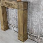 Shabby Deko Kaminumrandung Attrappe aus Holz Pic:2