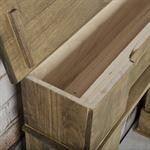 Shabby Deko Kaminumrandung Attrappe aus Holz Pic:4