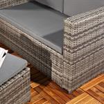 Polyrattan Gartensofa Lounge Sessel Grau Pic:3