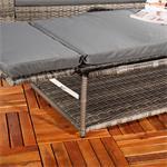 Polyrattan Gartensofa Lounge Sessel Grau Pic:4