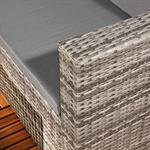 Polyrattan Gartensofa Lounge Sessel Grau Pic:6