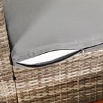 Polyrattan Gartensofa Lounge Sessel Grau Pic:7