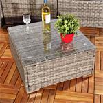 Polyrattan Sofa Sitzgruppe Lounge Grau Pic:5