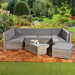 Polyrattan Sofa Sitzgruppe Lounge Grau Pic:1