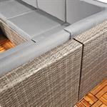 Polyrattan Sofa Sitzgruppe Lounge Grau Pic:4