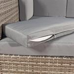 Polyrattan Sofa Sitzgruppe Lounge Grau Pic:6