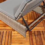 Polyrattan Sitzgruppe Sessel Tisch Grau Pic:3
