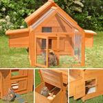 Hühnerstall mit Freigehege aus Holz