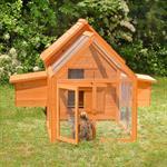 Hühnerstall mit Freigehege aus Holz Pic:1