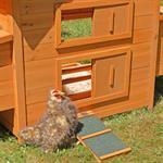 Hühnerstall mit Freigehege aus Holz Pic:3