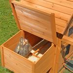 Hühnerstall mit Freigehege aus Holz Pic:5