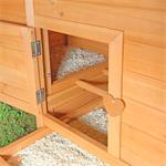 Hühnerstall mit Freigehege aus Holz Pic:6