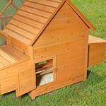 Hühnerstall mit Freigehege aus Holz Pic:7