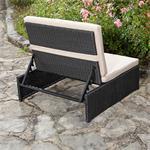 Polyrattan Sitzgruppe Sessel Tisch schwarz Pic:4