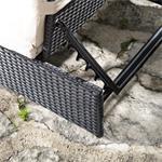 Polyrattan Sitzgruppe Sessel Tisch schwarz Pic:5