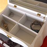 27cm Jewellry Box Armoire Casket Jewel Case Chest Trinket Stand Jewelery Storage Pic:3
